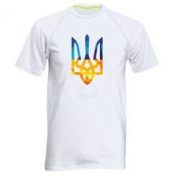 Мужская спортивная футболка Герб из ломанных линий - FatLine