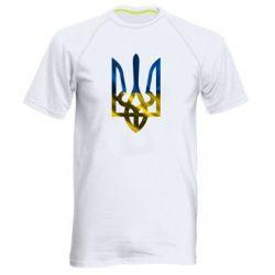 Мужская спортивная футболка Герб на фоні прапора - FatLine