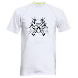 Мужская спортивная футболка Герб Охотника - FatLine