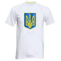 Мужская спортивная футболка Герб України 3D - FatLine