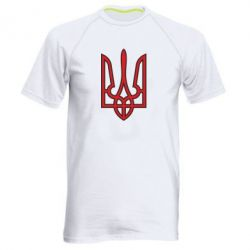 Мужская спортивная футболка Герб України (двокольоровий) - FatLine