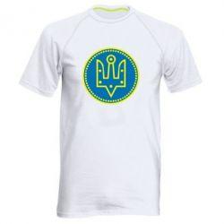 Мужская спортивная футболка Герб України у колі - FatLine