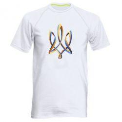 Мужская спортивная футболка Герб Украины Лента - FatLine