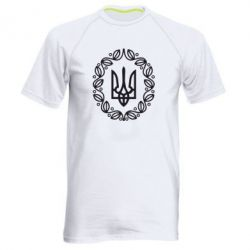 Мужская спортивная футболка Герб Украины - FatLine