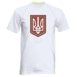 Мужская спортивная футболка Герб вышиванка - FatLine