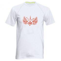 Мужская спортивная футболка Герб з крилами - FatLine