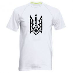 Мужская спортивная футболка Герб з металевих частин - FatLine