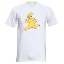 Мужская спортивная футболка Голый Гомер Симпсон - FatLine