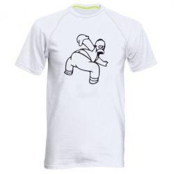 Мужская спортивная футболка Гомер Симпсон - FatLine