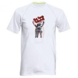 Мужская спортивная футболка Горячий пляжный волейбол - FatLine