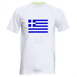 Мужская спортивная футболка Греция - FatLine