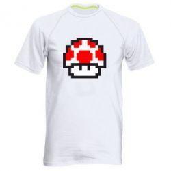 Мужская спортивная футболка Гриб Марио в пикселях