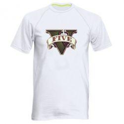 Мужская спортивная футболка GTA 5 3D Logo - FatLine