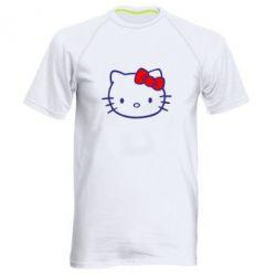 Мужская спортивная футболка Hello Kitty logo - FatLine