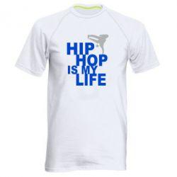 Мужская спортивная футболка Hip-hop is my life - FatLine