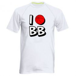 Мужская спортивная футболка I love basketball - FatLine