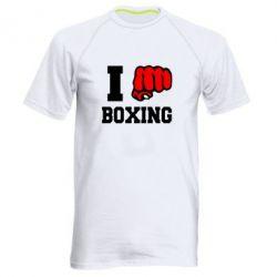Мужская спортивная футболка I love boxing - FatLine