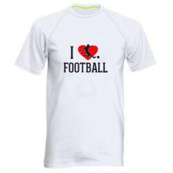 Мужская спортивная футболка I love football - FatLine