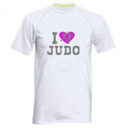 Мужская спортивная футболка I love Judo