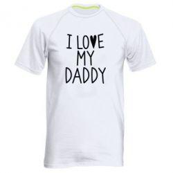Купить Мужская спортивная футболка I love my Daddy, FatLine