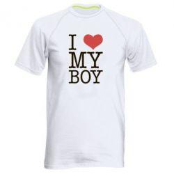 Мужская спортивная футболка I love my - FatLine