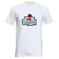 Мужская спортивная футболка I love this Game