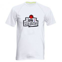 Мужская спортивная футболка I love this Game - FatLine
