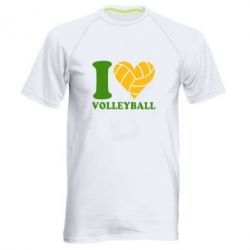 Мужская спортивная футболка I love volleyball - FatLine