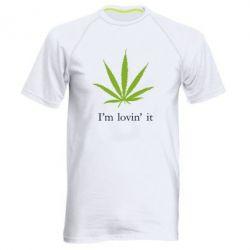 Мужская спортивная футболка I'm lovin it! - FatLine