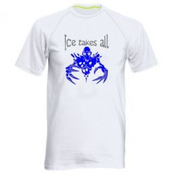 Мужская спортивная футболка Ice takes all Dota - FatLine