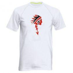 Мужская спортивная футболка индеец - FatLine