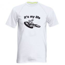 Мужская спортивная футболка It's my moto life - FatLine