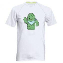 Мужская спортивная футболка Кактус