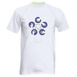Мужская спортивная футболка Камень, ножницы, бумага, ящерица, спок