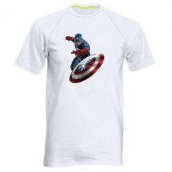 Мужская спортивная футболка Капитан Америка - FatLine