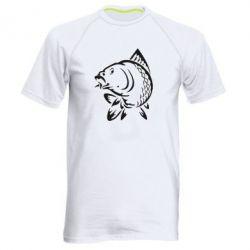 Мужская спортивная футболка Карп - FatLine