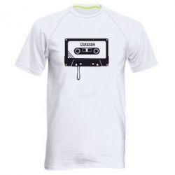 Мужская спортивная футболка Кассета - FatLine