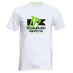 Мужская спортивная футболка Kawasaki Monster Energy - FatLine