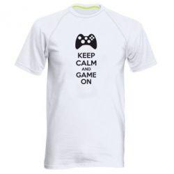 Мужская спортивная футболка KEEP CALM and GAME ON - FatLine