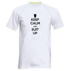Мужская спортивная футболка Keep Calm and suit up!