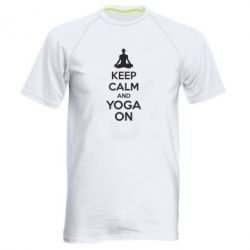 Мужская спортивная футболка KEEP CALM and YOGA ON - FatLine