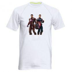Мужская спортивная футболка Кэп и Тони - FatLine