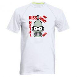 Мужская спортивная футболка Kiss metal - FatLine