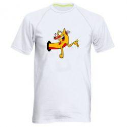 Мужская спортивная футболка Кіт