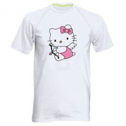 Мужская спортивная футболка Kitty амурчик - FatLine