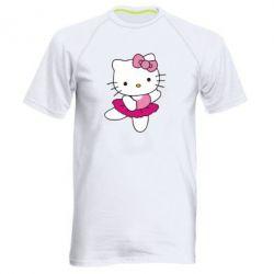 Мужская спортивная футболка Kitty балярина - FatLine