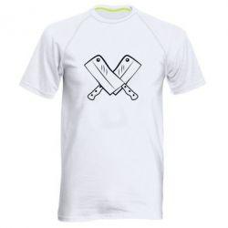 Мужская спортивная футболка Knives - FatLine