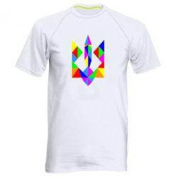 Мужская спортивная футболка Кольоровий герб
