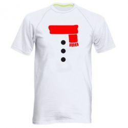 Мужская спортивная футболка Костюм снеговика - FatLine