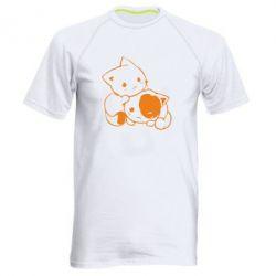 Чоловіча спортивна футболка кошенята - FatLine